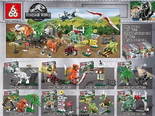 """Конструктор 66034 Dinosaur World """"Укрощение динозавров"""" 8 шт. в упаковке 18.5х14"""