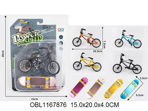 Купить игрушку минискейт+велосипед 4 цвета