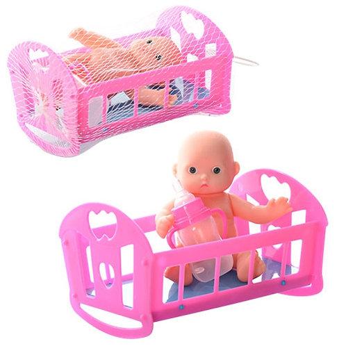 Купить игрушку кукла пупс с кроватью