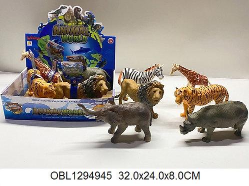 Купить игрушку животные дикие 6 шт/коробка