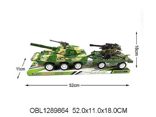 Купить игрушку танк инерц. с прицепом