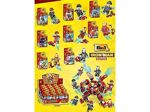 """Конструктор """"Железный человек"""" 8 в одном в упаковке 16 шт. 12.5х9х4.5 см"""