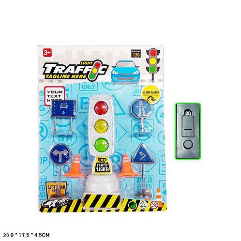 Игрушка детская:Набор светофор и знаки свет,звук