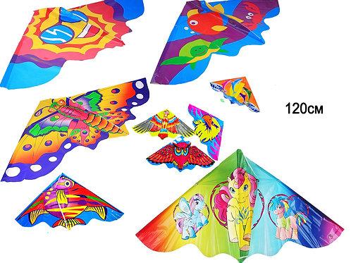Купить игрушку воздушный змей 120 см 6 видов (упаковано по 12 шт)
