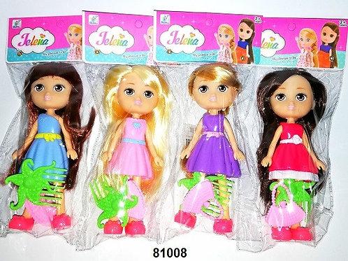 Кукла Jelena, в пакете 4 вида размер 17см