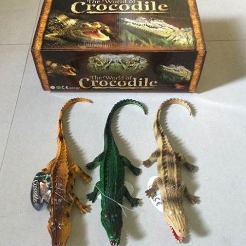 Животные резиновые Крокодил в упаковке 12шт. 30х20х12см
