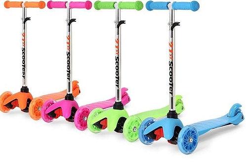Самокат детский Scooter МИНИ 3х колесный, колеса полиуретан, 6 цветов (12шт)