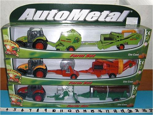 Игрушка детская:Трактор с прицепом мет.