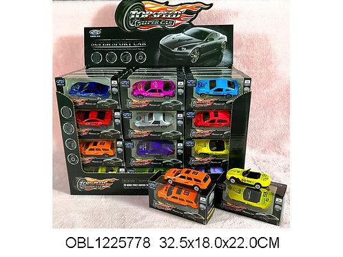Купить игрушку машина металл. инерц. 12 видов 48 шт/коробка