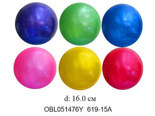 Купить игрушку мяч пластизоль 16 см 6 цветов (упаковано по 20 шт)