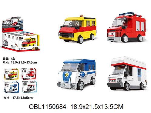 Купить игрушку конструктор микроавтобус 4 шт/коробка