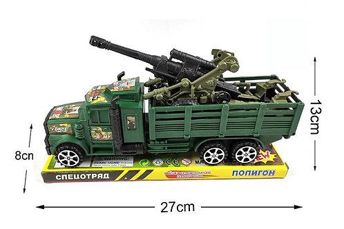 Игрушка детская:Военный перевозчик с техникой, инерция