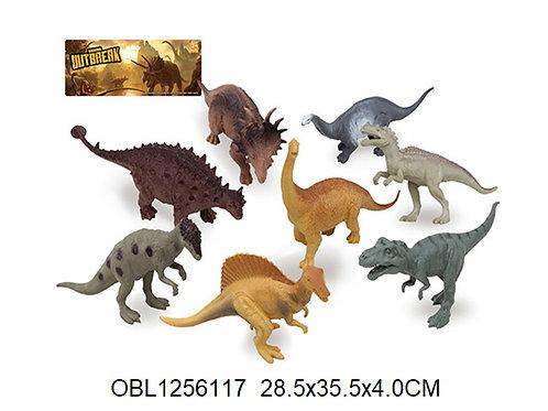 Купить игрушку динозавры 8 шт/пакет