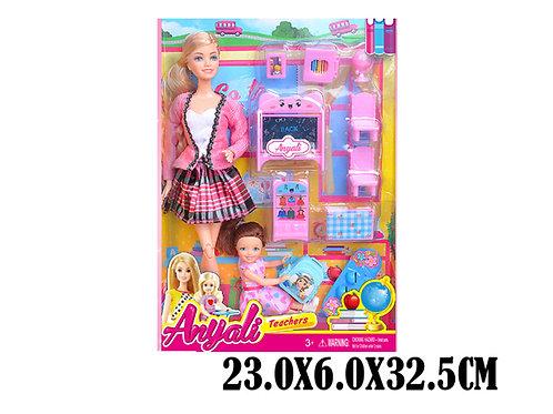 Игрушка детская:Кукла учитель с набором