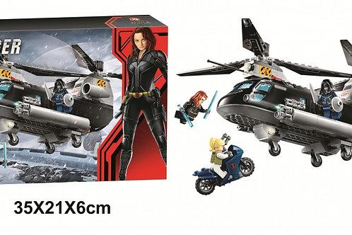 """Конструктор LARI 11508 Super Heroes """"Погоня на вертолёте Чёрной вдовы"""" 289 дет."""