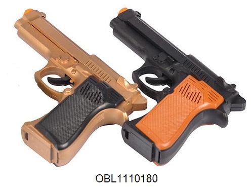 Купить игрушку пистолет на батарейках 2 цвета акция скидка 50%