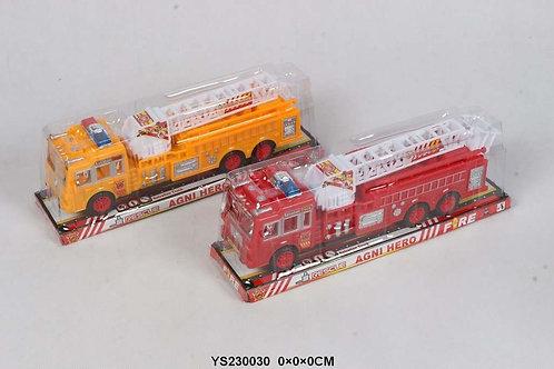 Автовоз Пожарная служба инерционный под блистером 34х10х8см