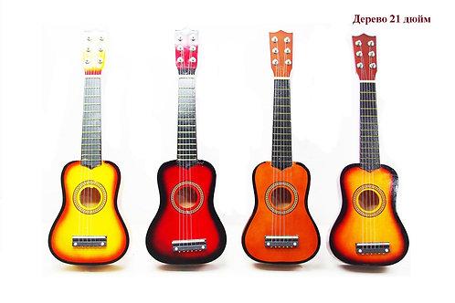 Купить игрушку гитара деревянная 4 цвета