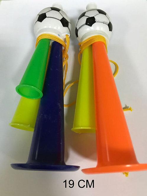 Игрушка детская:Дудка болельщика 2 цвета 19см