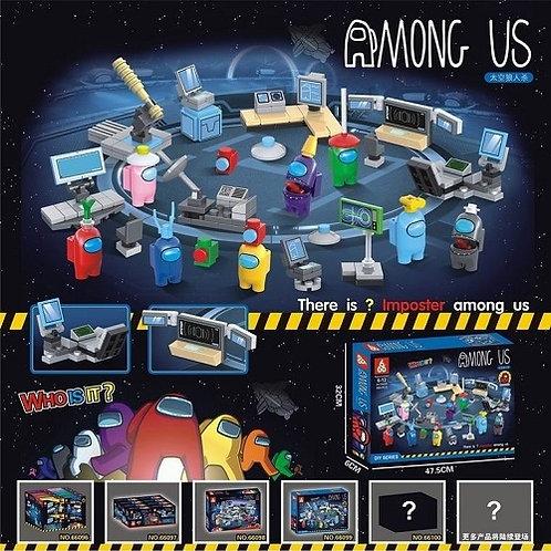 """Конструктор Among Us """"Компьютерный центр"""" в коробке 47х32х6 см"""