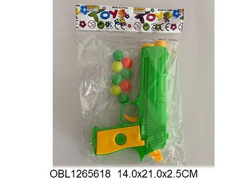 Купить игрушку пистолет с шарами 2 цвета