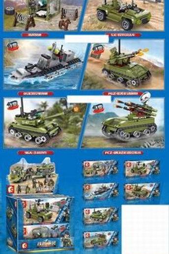 Конструктор Sembo Block Набор военной техники из 6 конструкторов в упаковке