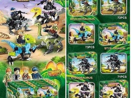 """Конструктор QL1728 Dinosaur World """"Герои на динозаврах"""" 8 шт. в упаковке 19х14х4"""