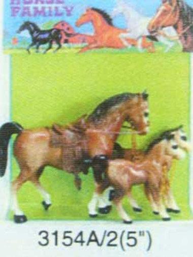 Игрушка детская:Лошади 3 шт. в пакете