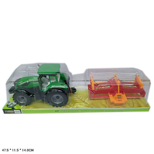 Игрушка детская:Трактор с сеялкой, красн.,зел. инерция