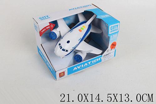 Игрушка детская:Самолет инерция озвученный