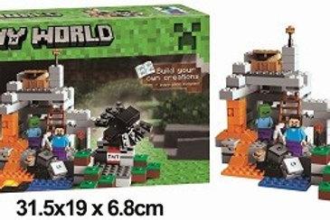 Конструктор BELA 10174 Майнкрафт «Пещера» 251 дет. в коробке 31Х6.5х19 см