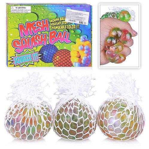 Купить игрушку мяч антистресс в сетке 24 шт/коробка