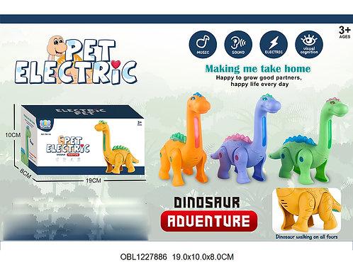 Купить игрушку динозавр на батарейках 3 цвета