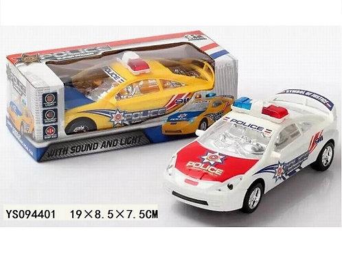 "Машинка ""Полиция"" +свет 2 вида в коробке 19х8.5х7.5см"