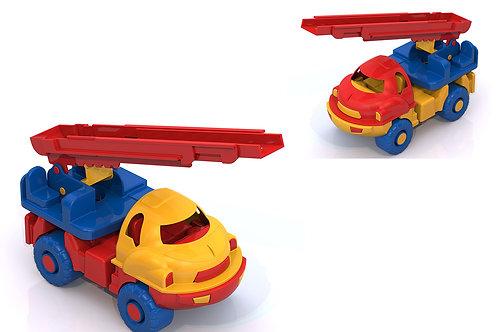 """Купить игрушку НордПласт: Пожарная машина """"Малыш"""" 100x95x185 мм"""