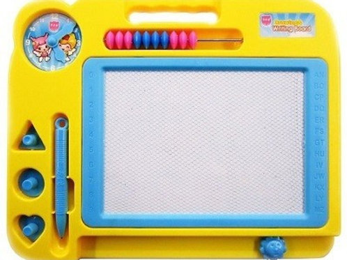 Доска для рисования магнитная со счетами 4 цвета 27х22х2см
