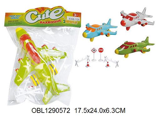 Купить игрушку самолет инерц. 3 цвета