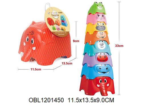 Купить игрушку логика пирамида слоники