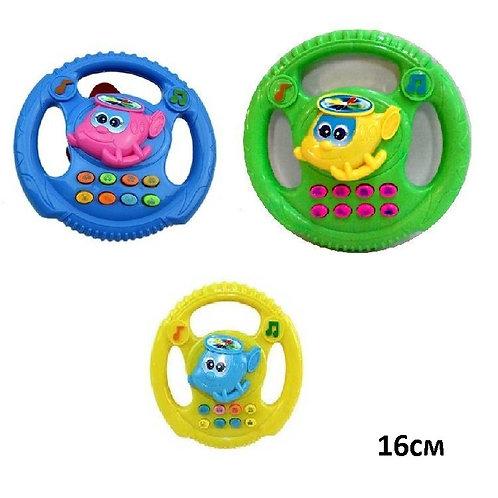 Купить игрушку руль музыкальный 3 цвета