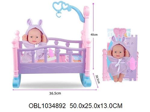 Купить игрушку кукла пупс в кровати акция скидка 55%