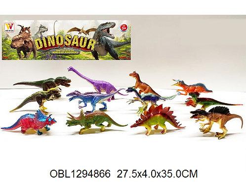 Купить игрушку динозавры 12 шт/коробка