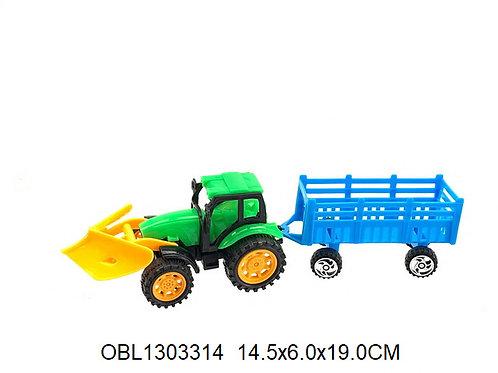 Купить игрушку трактор инерц. с прицепом 2 цвета