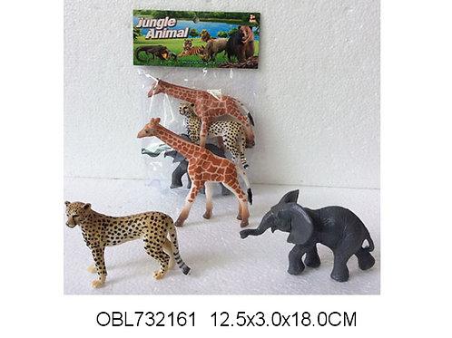 Купить игрушку животные дикие 3 шт/пакет