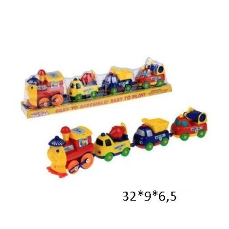 Купить игрушку паровоз на батарейках с вагонами на магнитах