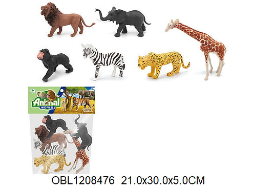Купить игрушку животные дикие 6 шт/пакет