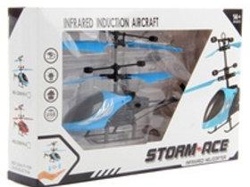 Вертолет с управлением рукой индукционный  3 вида в коробке 25х16см