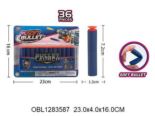 Купить игрушку поролоновые пули EVA 36 шт/упаковка