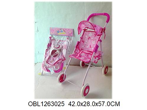Купить игрушку коляска с козырьком металл.