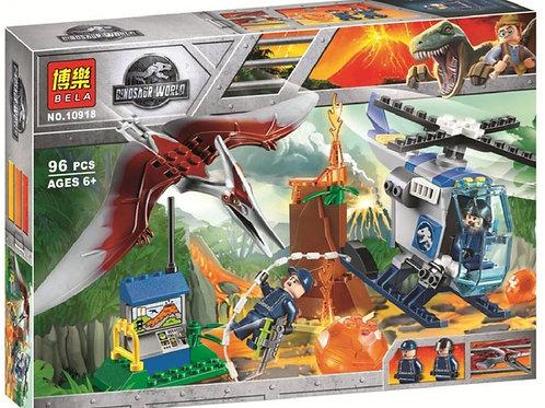 "Конструктор BELA 10918 Dinosaur World ""Побег птеранодона"" 96 дет. 26х19х4.5 см"