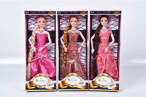 Игрушка детская:Кукла с косой 3в 32x12см